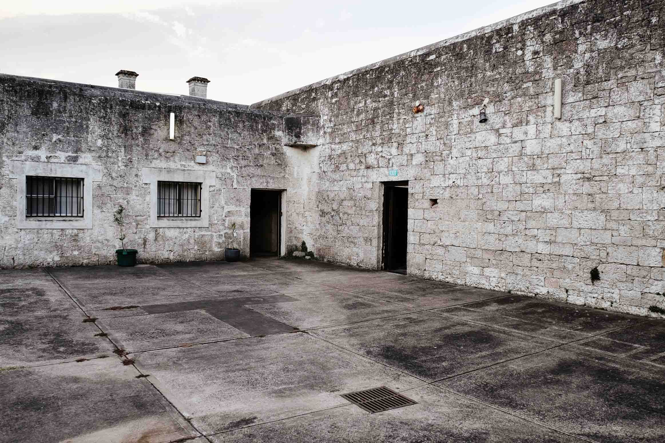 Photo of the exercise yard, Old Mount Gambier Gaol